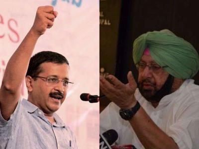 Punjab Elections : Brutal Twitter war between Amarinder Singh and Arvind Kejriwal