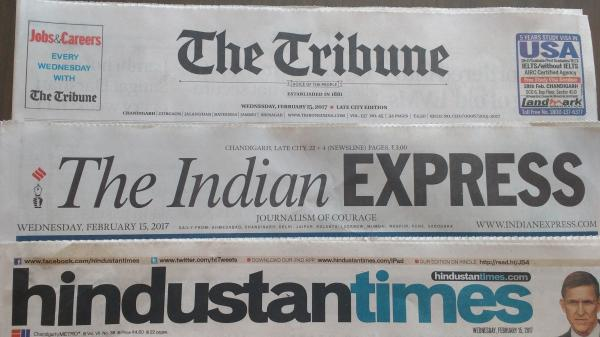 The Tribune celebrates arrest of journalist, Indian Express blasts EC for it