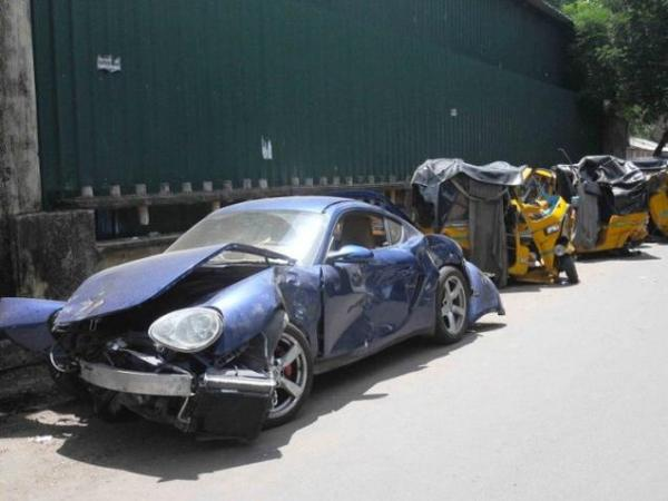 One killed, 10 injured as drunk student crashes Porsche into autos