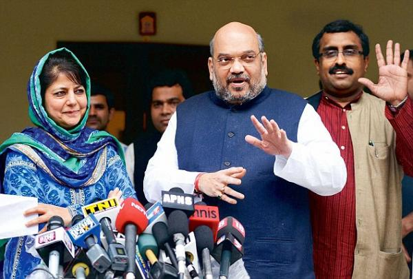 Three years on, PDP-BJP alliance sailing smooth; Ram Madhav makes room for Mehbooba's domestic constituency