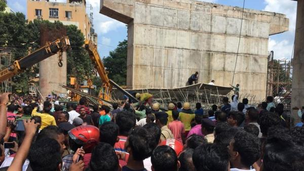 One killed, 11 injured as under-construction flyover caves in