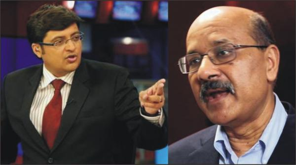 "WAR ON TV - ""Quit the profession, Dammit!""— Arnab Goswami tells Shekhar Gupta"
