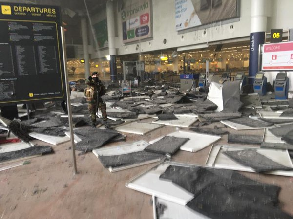 Terror attack : Two explosions at Brussels airport, explosion at metro station