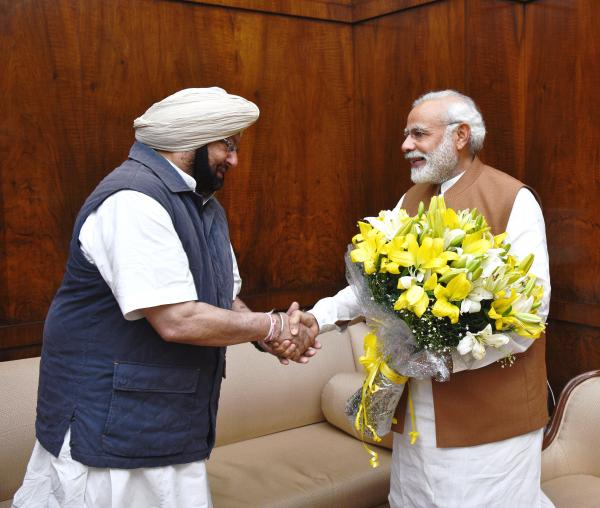 Amarinder welcomes PM's move to hold Punjab-Haryana meet on SYL issue
