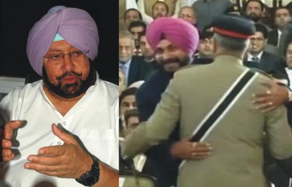 Sidhu hugging Pak army chief was not a nice gesture: Amarinder