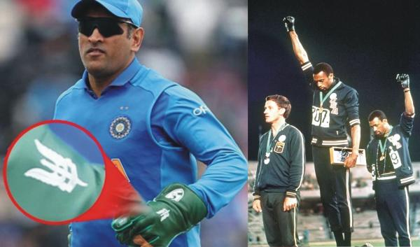 SPORTS & POLITICS: HAND IN GLOVE — MS Dhoni's Olive Green Balidan Gloves and the Black Gloves of Smith & Carlos