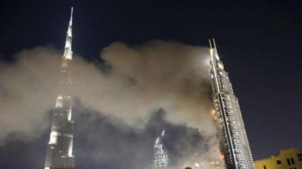 Two residential towers engulfed in flames in Ajman, UAE