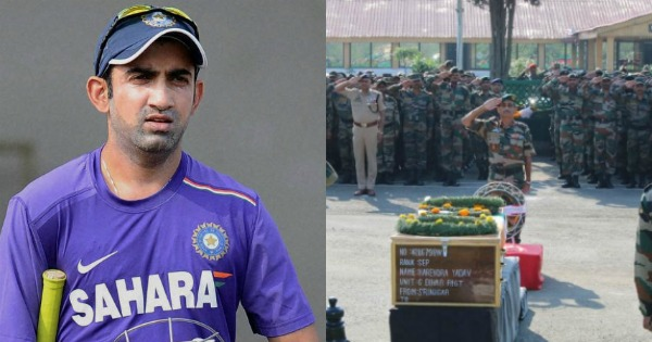 Gautam Gambhir to bear education expenses of slain CRPF soldiers' children