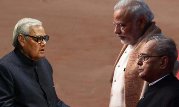 To save the democracy, follow the legacy of Vajpayee: Pranab Da advises Modi govt