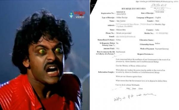 Some Dude filed a RTI asking if the Indian government is prepared for a zombie attack.